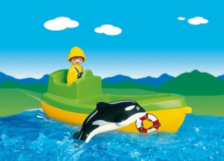 Playmobil - 6739 - Fishing Boat with Whale