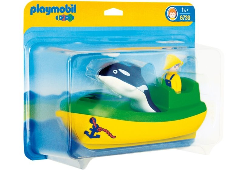 Playmobil 6739 - Fishing Boat with Whale - Box