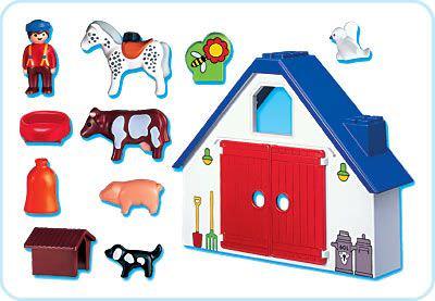 Playmobil 6740 - 1.2.3 Animal Farm - Back