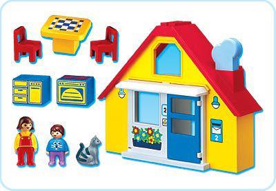 Playmobil 6741 - 1.2.3 Family`s House - Back