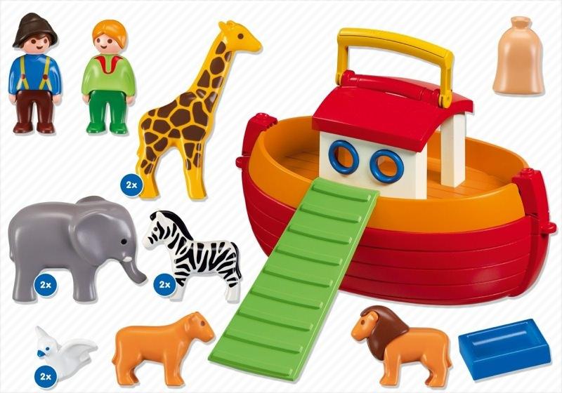 Playmobil 6765 - My Take Along 1.2.3 Noah's Ark - Back
