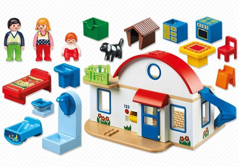 Playmobil 6784 - Suburban Home - Back