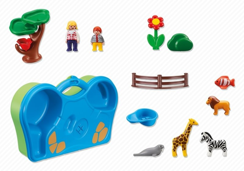 Playmobil 6792 - Take Along Zoo & Aquarium - Back