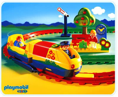 Playmobil set 6915 electric train set klickypedia - Train playmobil ...