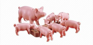 Playmobil - 7021 - Pig and 6 Piglets