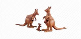 Playmobil - 7226 - 2 Kangaroos with 2 Joeys
