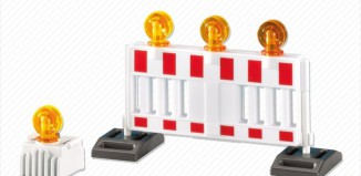 Playmobil - 7453 - Barricade and Warning Light