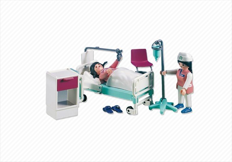 Playmobil set 7624 hospital room klickypedia for Hospital de playmobil