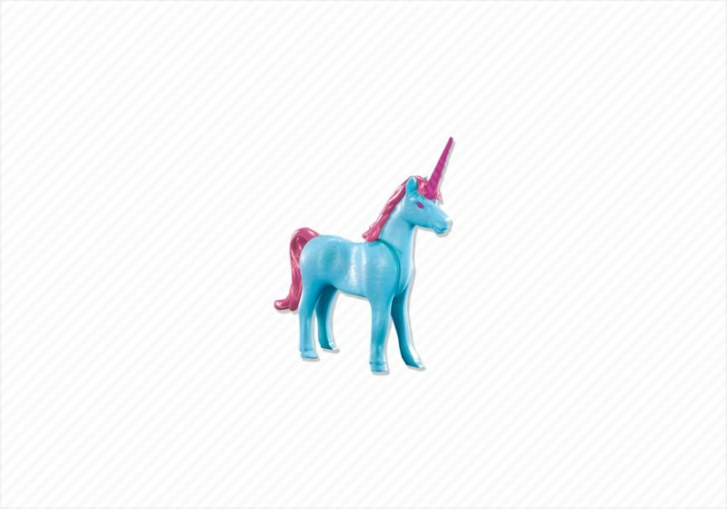 playmobil set 7870  light blue unicorn  klickypedia