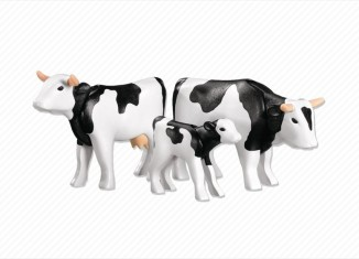 Playmobil - 7892 - 2 Black Cows with Calf