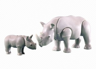 Playmobil - 7989 - Rhino with Calf